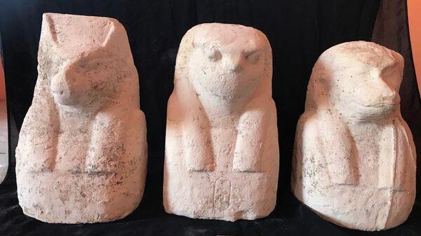 Мумии и археологические находки, обнаруженные  в провинции эль-Мануфия в Египте