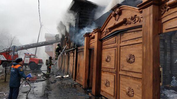 Пожар на на ул. Дзержинского в  Тюмени. 3 апреля 2019