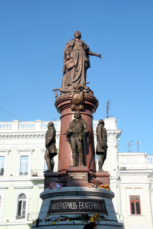Памятник российской императрице Екатерине II – центральная фигура скульптурной композиции, изображающей основателей Одессы - РИА Новости, 1920, 20.09.2020