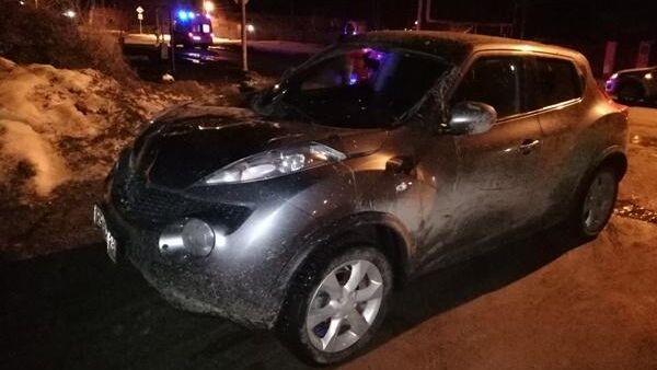 Автомобиль виновницы ДТП в поселке Белоярский Свердловской области
