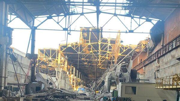 Обрушение кровли на заводе в Дзержинске
