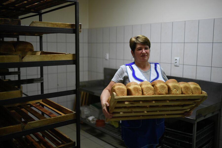 Выпечка хлеба в деревне Аполлоновка