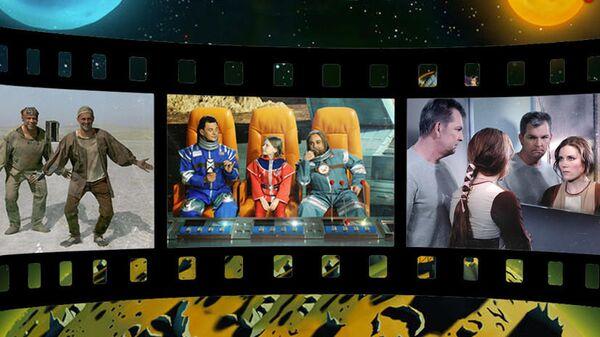 Российские космонавты снялись для афиш легендарных фантастических фильмов в рамках спецпроекта RT