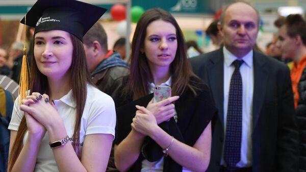 Участники 48-й Московской международной выставки Образование и карьера -2018 в выставочном зале Гостиный двор в Москве