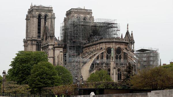 Собор Парижской Богоматери после пожара. 16 апреля 2019