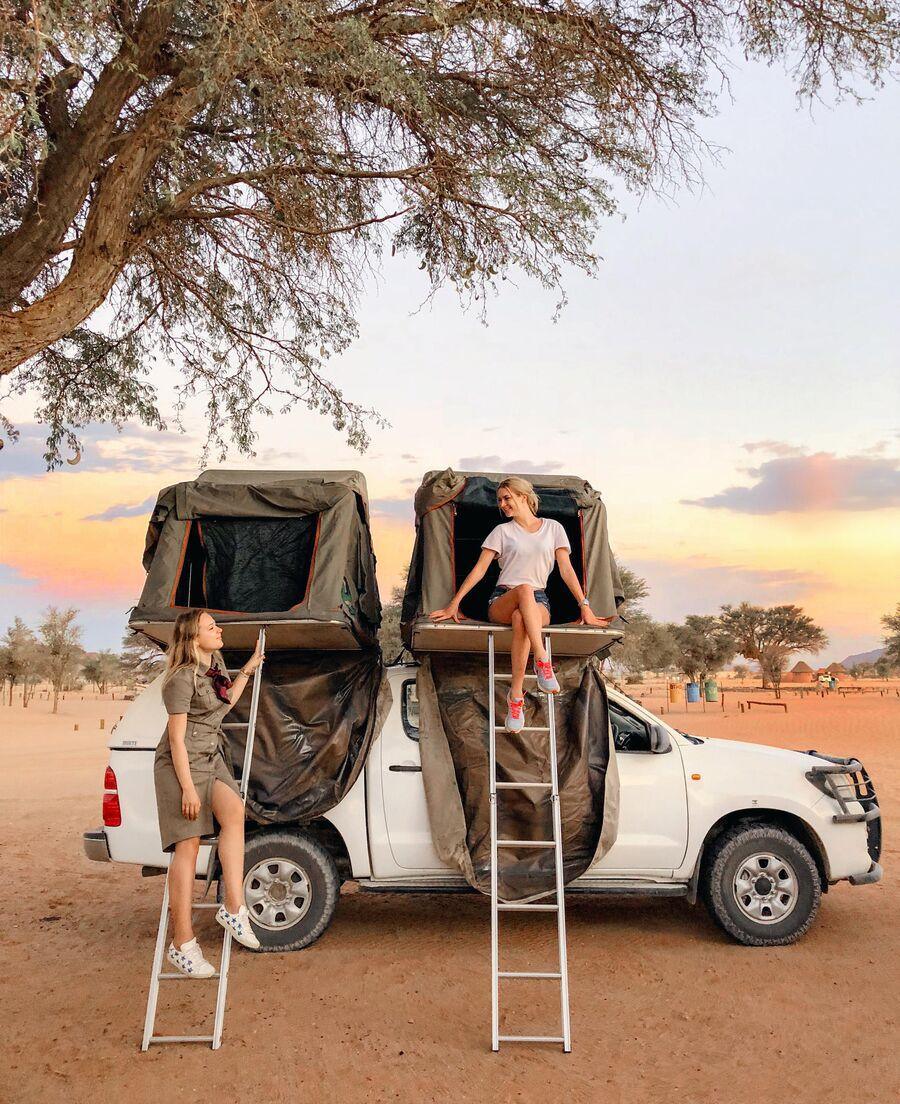 Палатки в Намибии