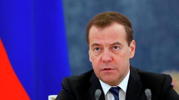 Председатель правительства РФ Дмитрий Медведев проводит заседание правительства РФ. 18 апреля 2019