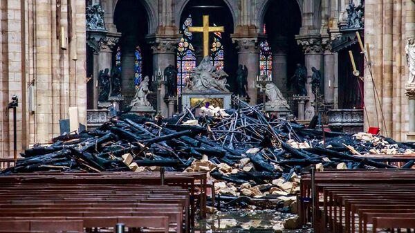 Последствия пожара в Соборе Парижской Богоматери в Париже