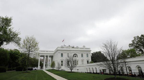 Белый дом в Вашингтоне перед публикацией доклада Роберта Мюллера о вмешательстве России в президентские выборы в США