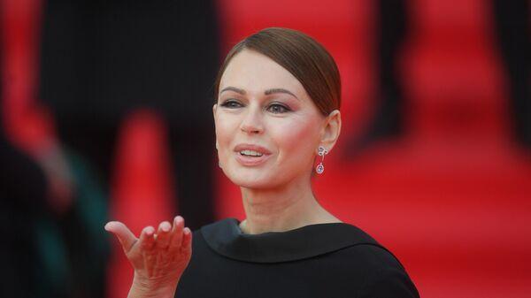 Актриса Ирина Безрукова на открытии 41-го Московского Международного кинофестиваля (ММКФ)