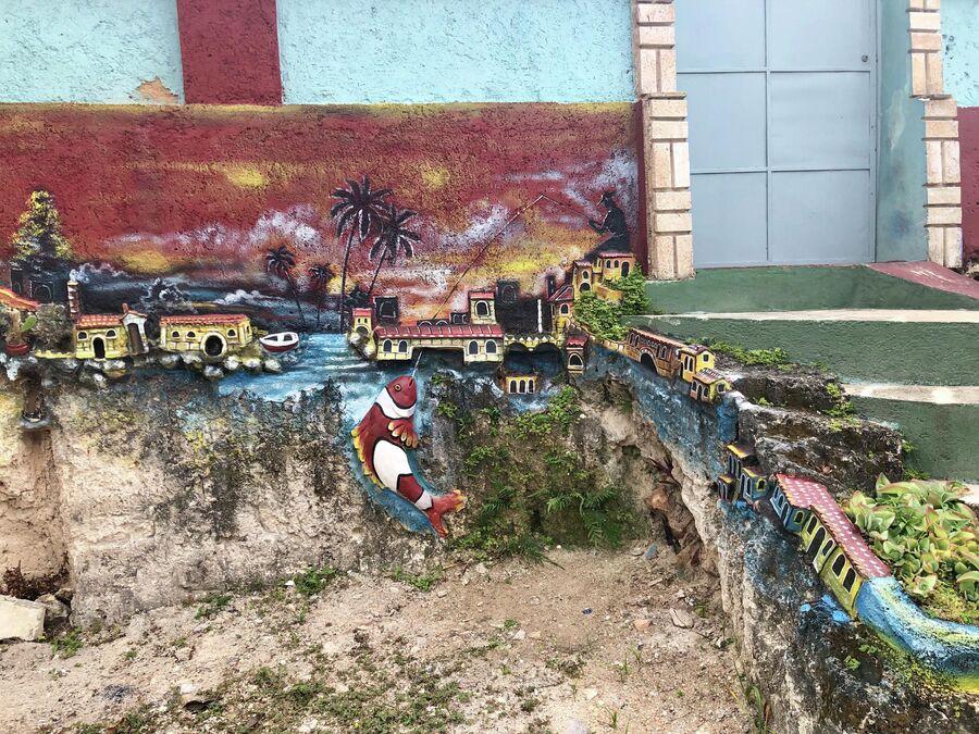 Порог одного из домов в Варадеро, Куба