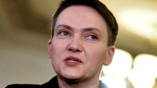 Депутат Верховной рады Украины Надежда Савченко на заседании Верховной рады Украины