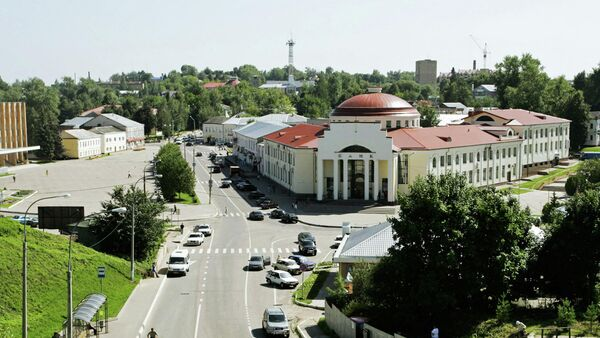 В центре города Волоколамска
