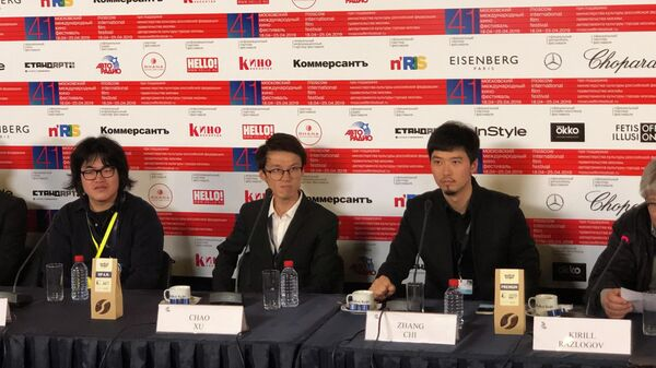 Чжан Чи на открытии Московского международного кинофестиваля