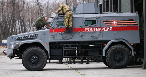 Бронеавтомобиль Патруль Росгвардии, который примет участие в параде Победы на Красной площади 9 мая