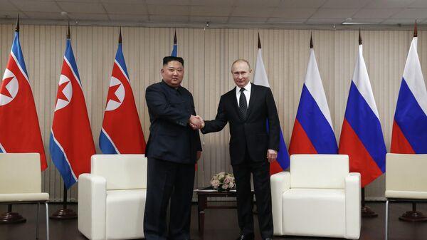 Встреча Путина и Ким Чен Ына во Владивостоке