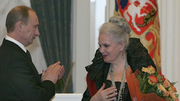 Президент России Владимир Путин наградил актрису Малого театра Элину Быстрицкую орденом За заслуги перед Отечеством I степени