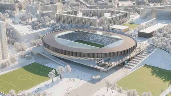 Макет столичного стадиона Торпедо имени Эдуарда Стрельцова
