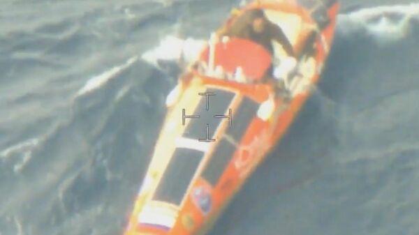 видео с самолета лодки Федора Конюхова
