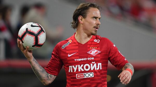 Защитник Спартака Андрей Ещенко