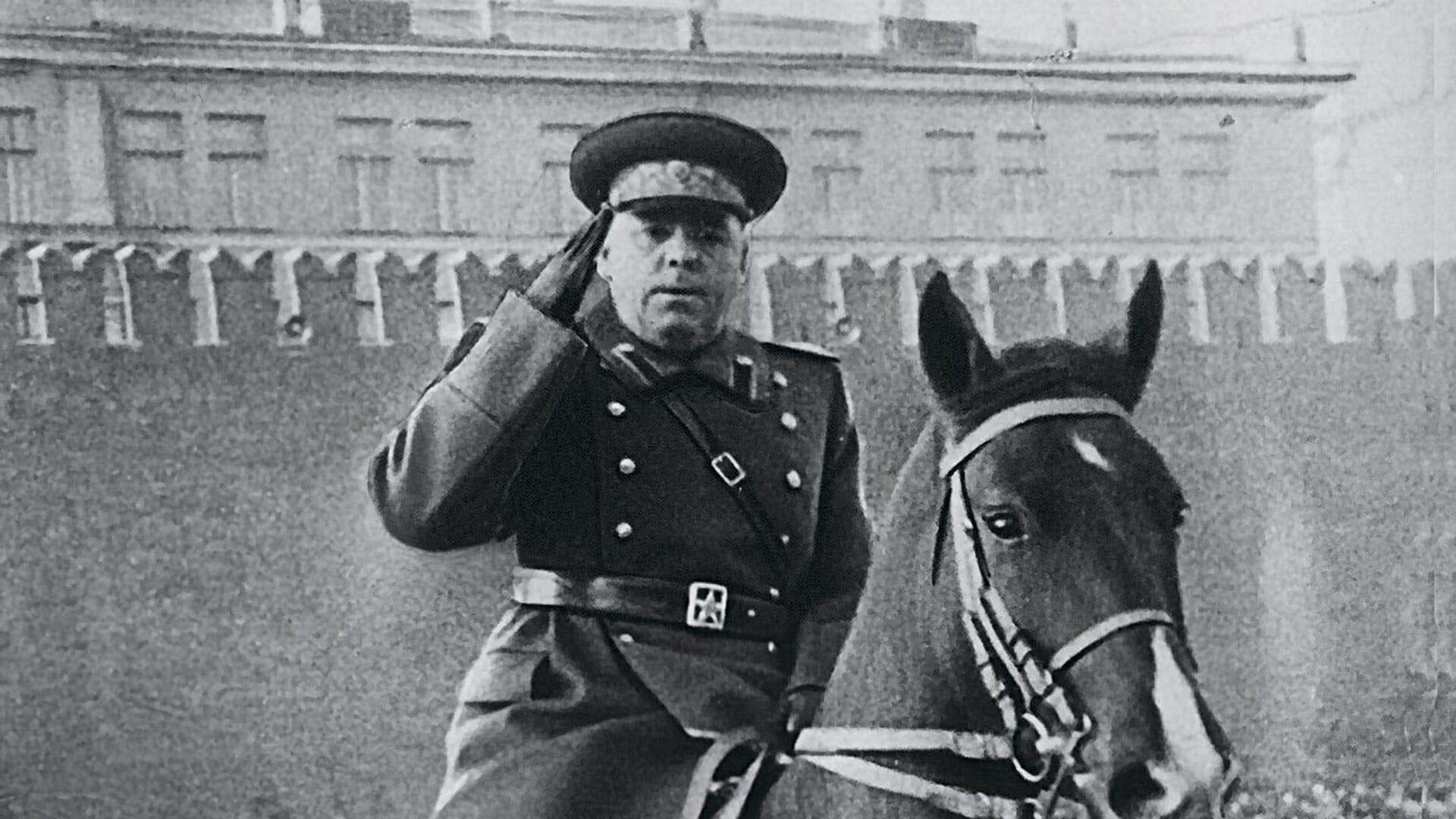 Маршал Советского Союза, дважды Герой Советского Союза Василевский Александр Михайлович на параде Победы 7 ноября 1949 г. - РИА Новости, 1920, 18.05.2021
