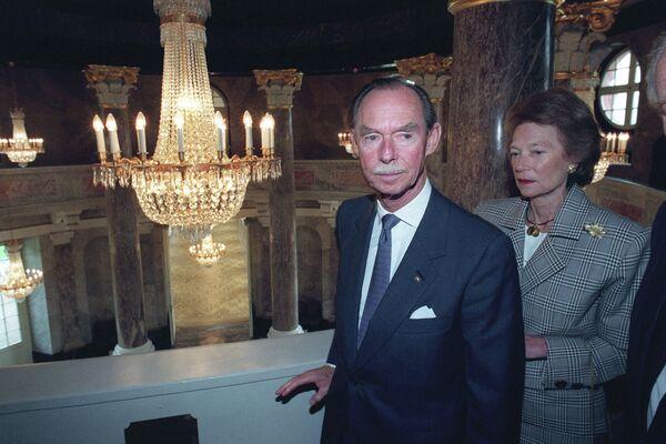 Великий герцог Люксембургский Жан и его супруга принцесса Жозефина-Шарлотта