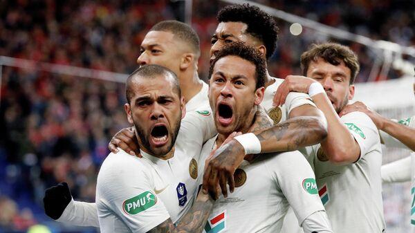 Футболисты Пари Сен-Жермен во главе с Неймаром