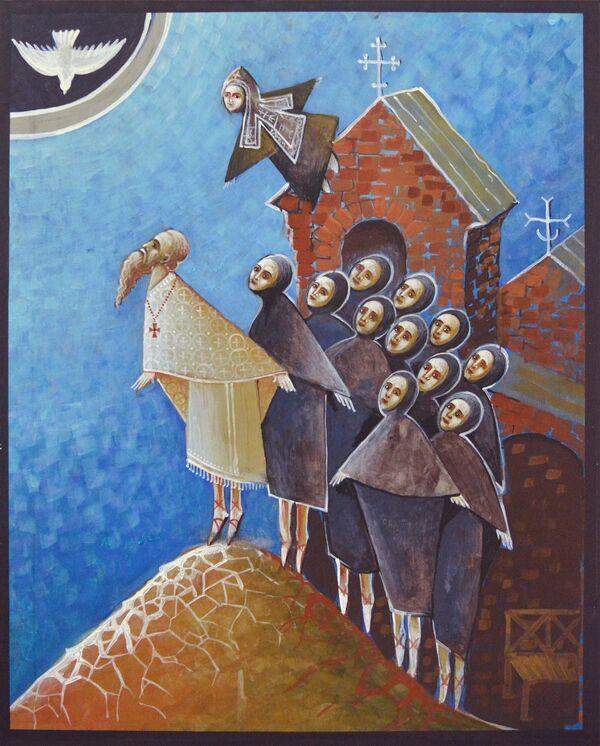 Одна из работ иконописной мастерской Иверского монастыря
