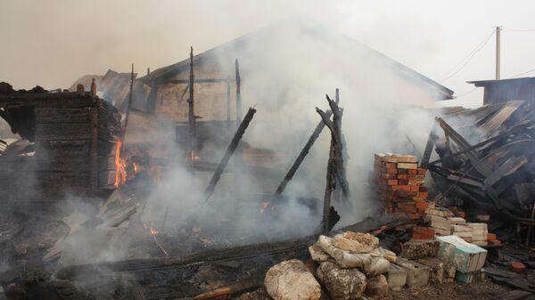 Пожар в селе Ракитное под Хабаровском. 4 мая 2019