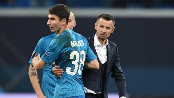 Леон Мусаев (слева) и Сергей Семак