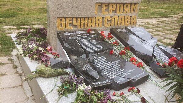 В Крыму вандалы осквернили памятник героям Великой Отечественной войны