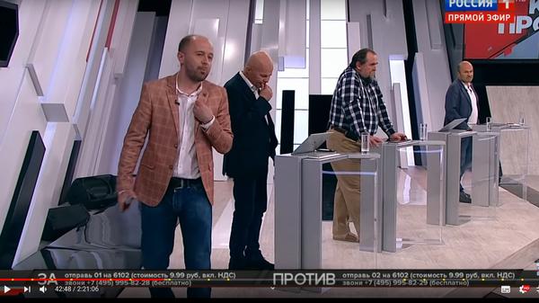 Пошел вон! Соловьев выгнал из студии украинского эксперта за слова о Бандере