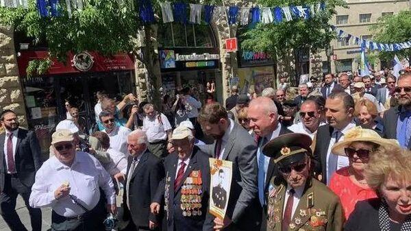 В рамках праздничных мероприятиях, приуроченных к 74-ой годовщине победы в Великой Отечественной войне, в  Иерусалиме на главной улице Яффо состоялось торжественное шествие Марш Победы. 14 мая 2019