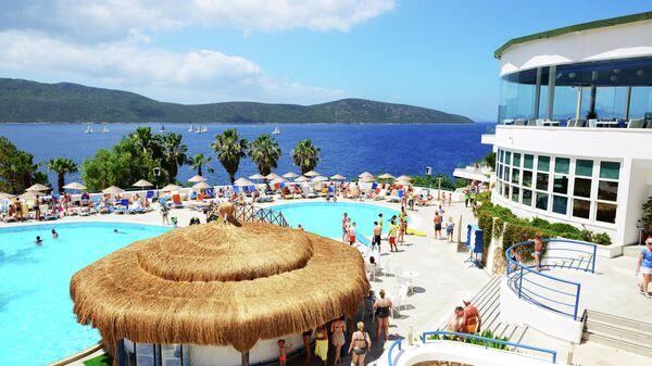Туристы в одном из отелей Бодрума, Турция