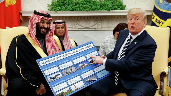 Наследный принц Саудовской Аравии Мухаммед бен Салман и президент США Дональд Трамп во время встречи в Белом доме. 20 марта 2018