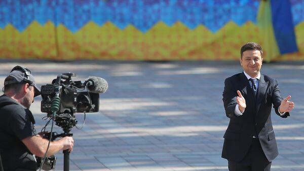 Избранный президент Украины Владимир Зеленский перед началом церемонии инаугурации в Киеве. 20 мая 2019