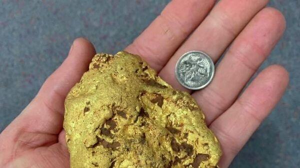Золотой самородок весом 1,4 килограмма, найденный в австралийском штате Западная Австралия