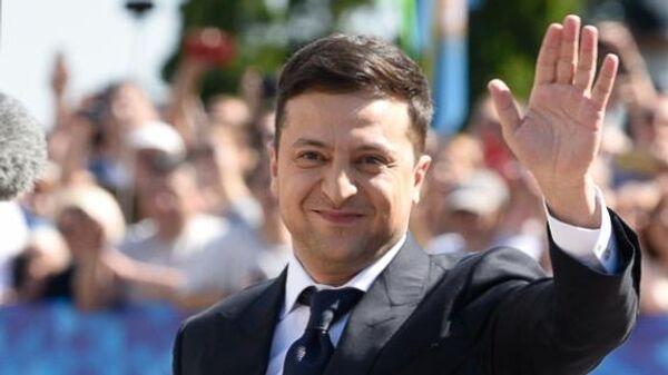 Владимир Зеленский после церемонии инаугурации в Верховной Раде в Киеве. 20 мая 2019