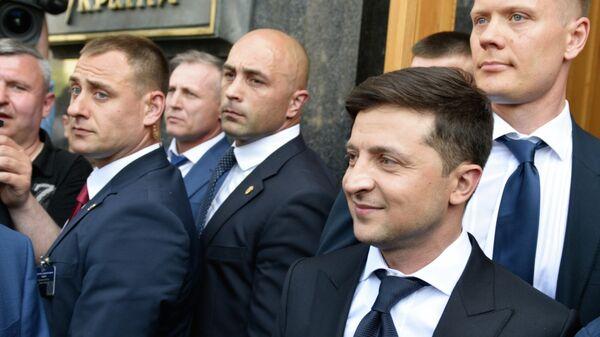 Президент Украины Владимир Зеленский после церемонии инаугурации в Киеве. 20 мая 2019