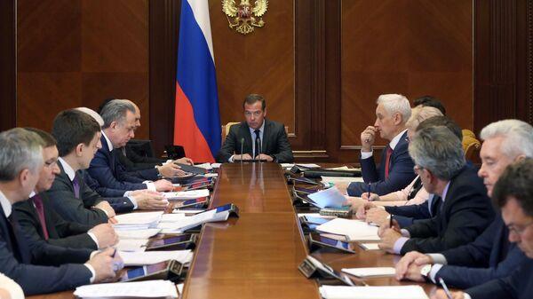 Председатель правительства РФ РФ Дмитрий Медведев заседание президиума Совета при президенте РФ по стратегическому развитию и национальным проектам. 20 мая 2019