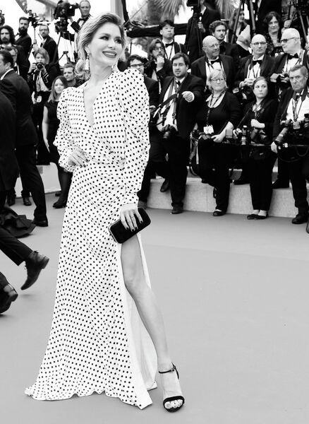 Дизайнер Белла Потёмкина на красной дорожке церемонии открытия 72-го Каннского международного кинофестиваля