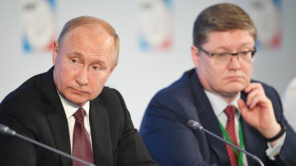 Президент РФ Владимир Путин на съезде Федерации независимых профсоюзов России. 22 мая 2019.