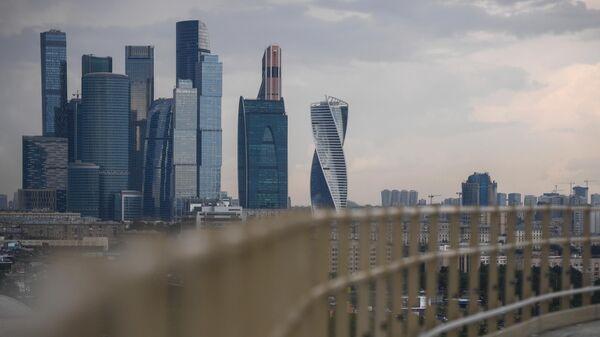 Вид на Москву со смотровой площадки Лужники