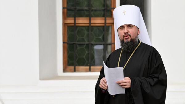 Митрополит Киевский и всея Украины Епифаний после заседания Синода Украинской православной церкви