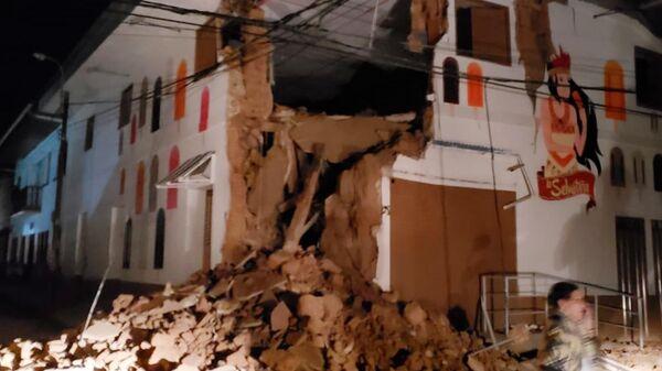 Последствия землетрясения в городе Юримагуас, Перу. 26 мая 2019