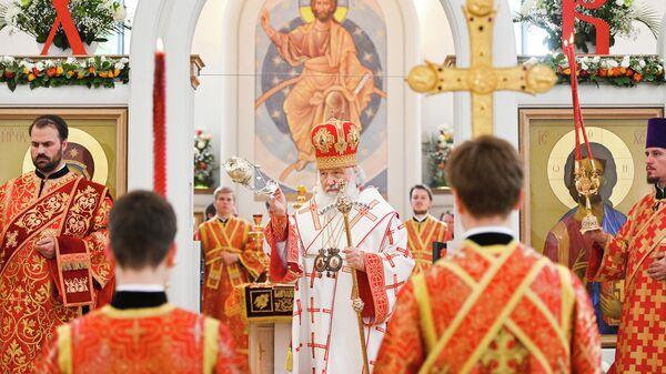 Патриарх Московский и всея Руси Кирилл в храме Всех Святых в Страсбурге