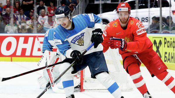 Форвард сборной Финляндии Оливер Каски