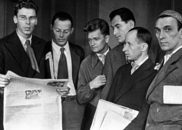 Сотрудники журнала Крокодил, 1934 год.