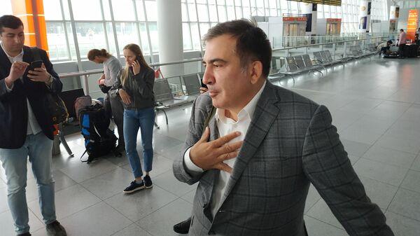 Михаил Саакашвили в аэропорту Варшавы, Польша. 29 мая 2019