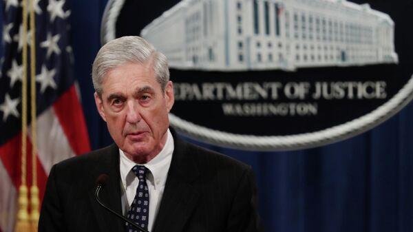 Спецпрокурор Роберт Мюллер во время выступления в Вашингтоне, США. 29 мая 2019